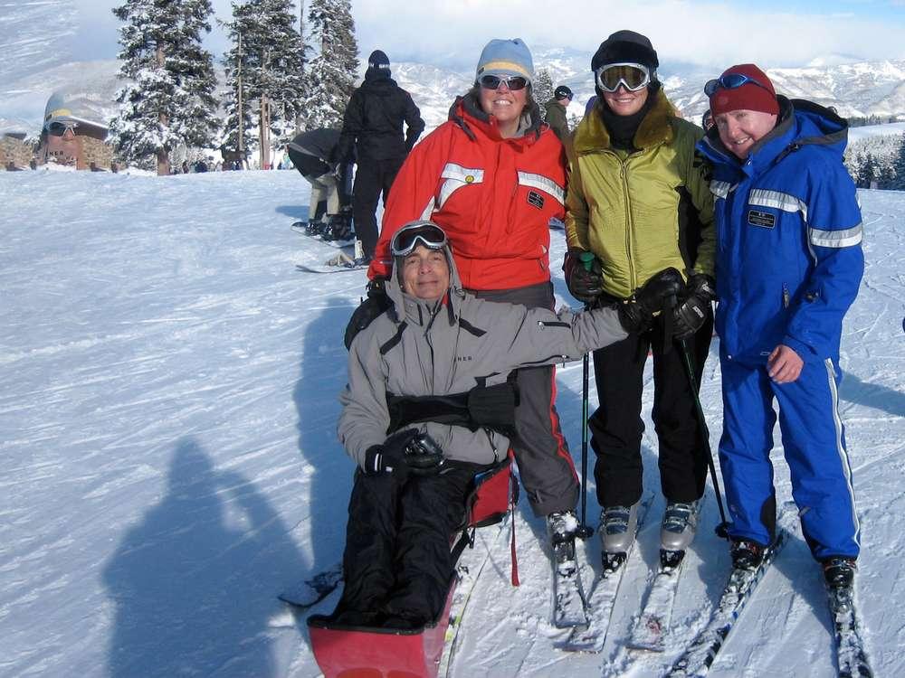Paris  Loretta in Colorado with ski instructor
