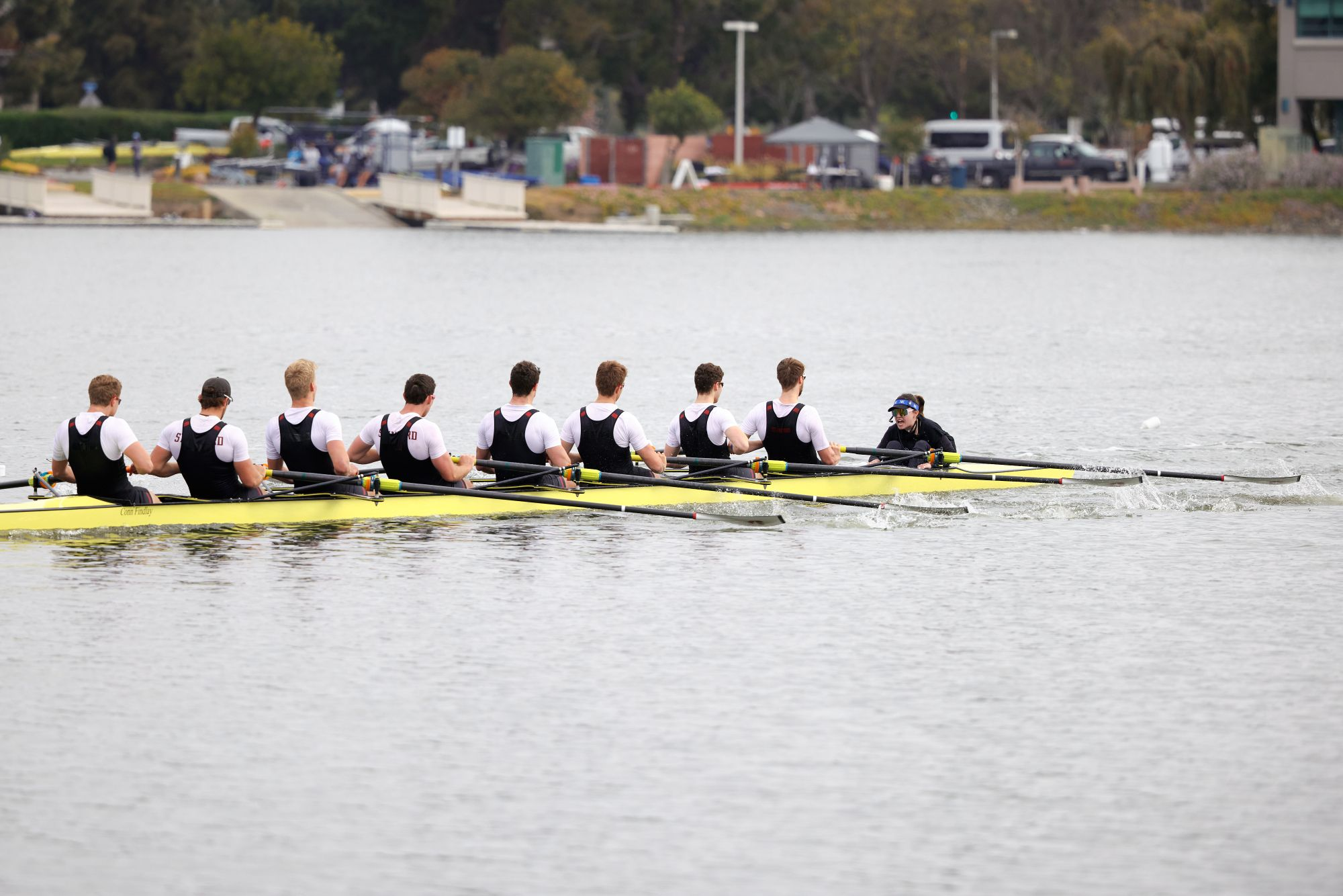 Stanford rowers out on the water