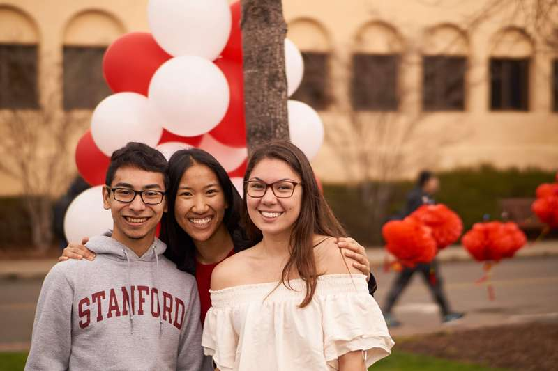 Students smile on campus
