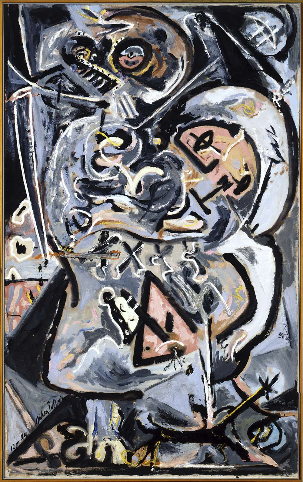 Painting entitled, Totem Lesson I, 1944 by Jackson Pollock