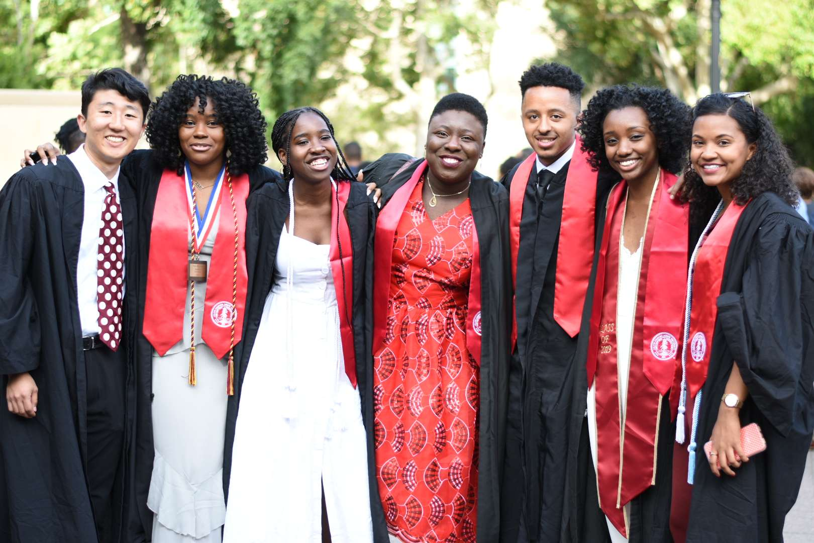 Stanford students and members of Black Community Services Center at commencement