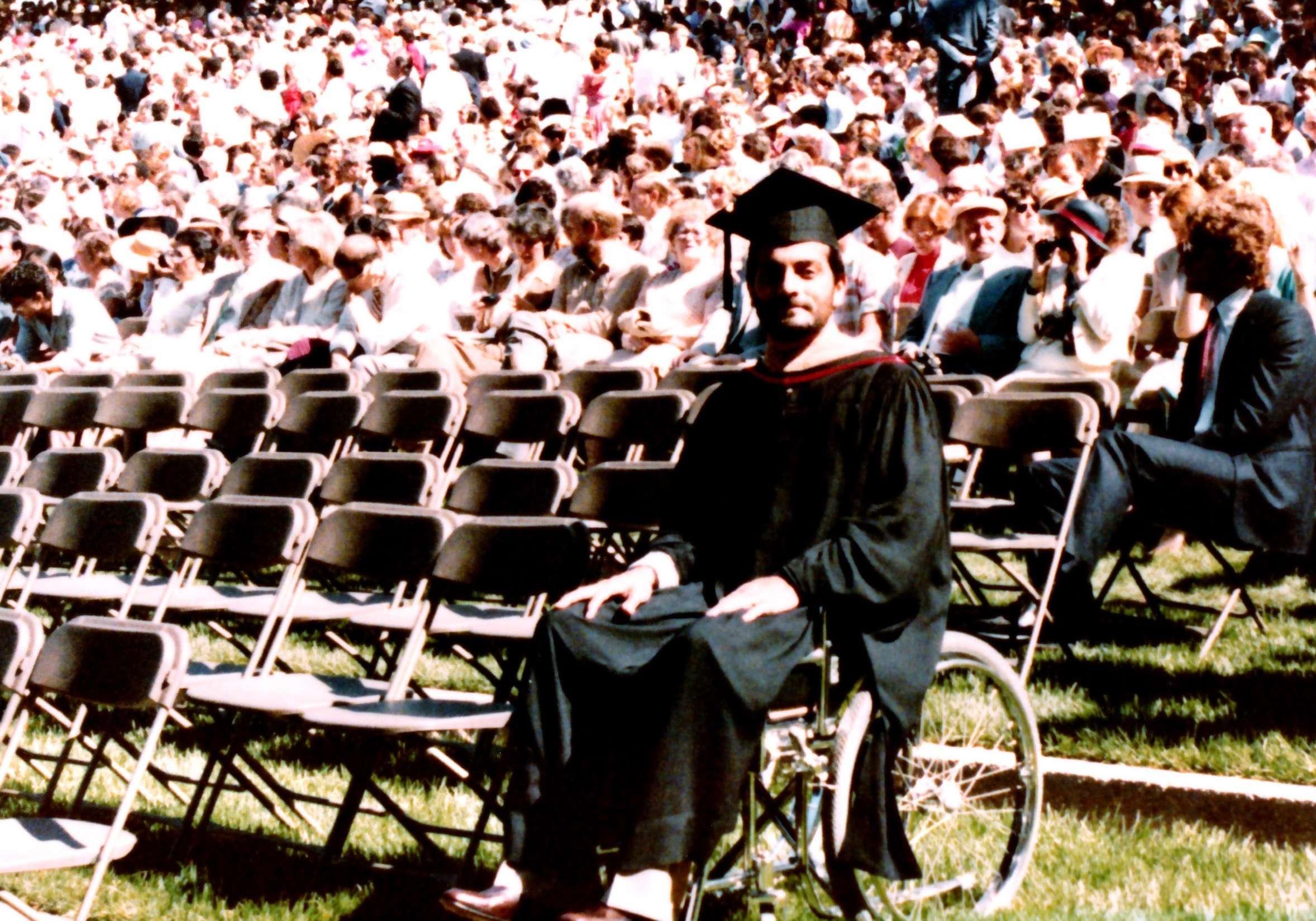 Paris Thermenos, MBA '83, at his Stanoford graduation