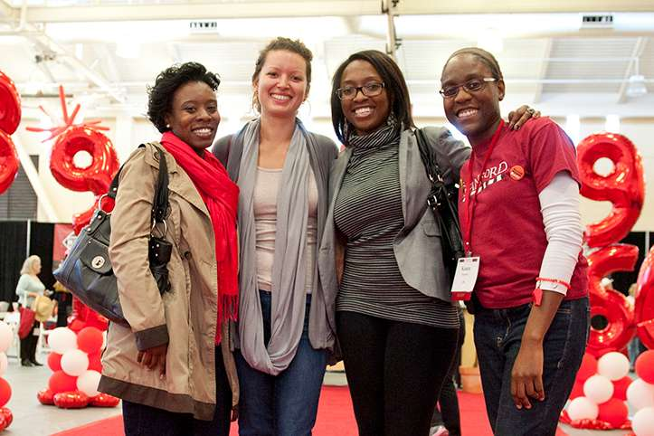Stanford alums at a reunion event
