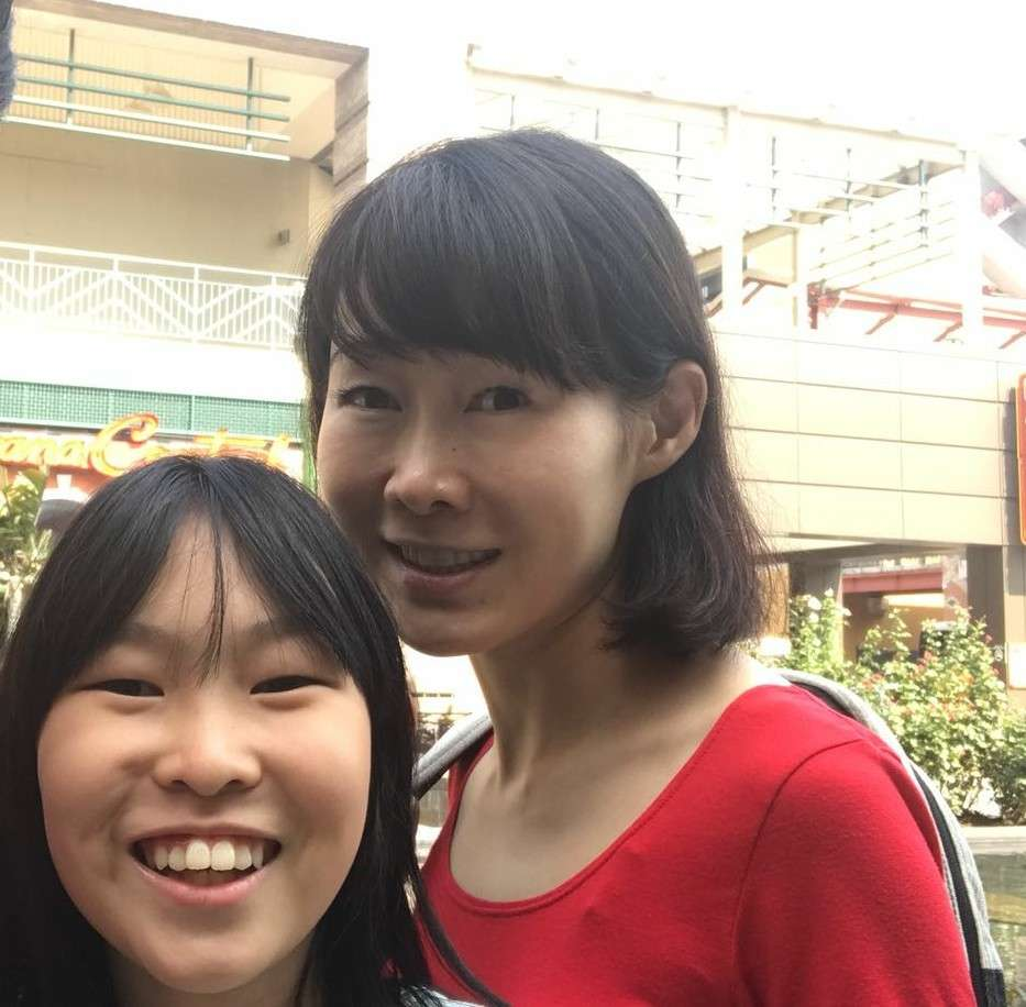 Angie Hsu with her daughter
